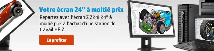 """Repartez avec l'écran Z Z24i 24"""" à moitié prix à l'achat d'une station de travail HP Z."""