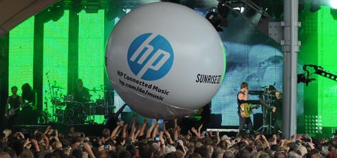 HP Connected Music bei den Konzerten